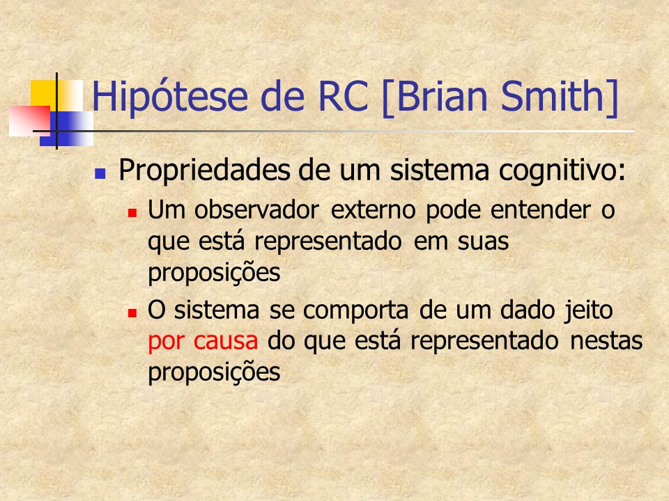 Hipótese de RC [Brian Smith]